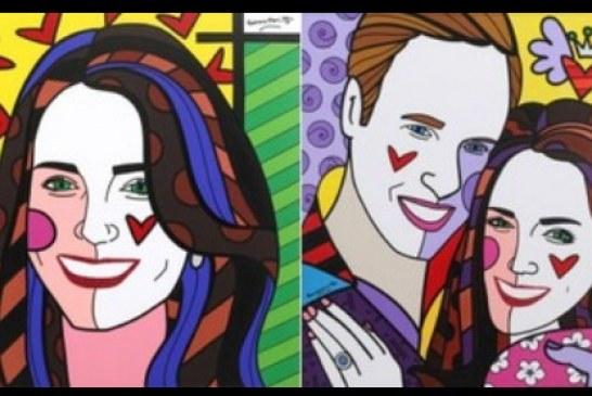 Romero Britto pinta retrato de Príncipe William e Kate