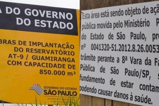 Governo do Estado de São Paulo quer construir piscinão em área contaminada