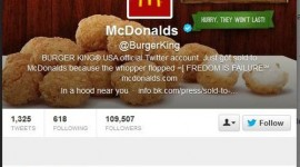 Hackers invadem conta do Burger King e mudam nome para McDonalds no Twitter