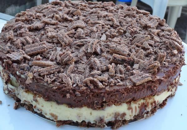 Receita Deliciosa: Torta de Waffer ou Bis