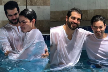 """Yudi Tamashiro se batiza em igreja e cita Bíblia: """"Quem crer e for batizado será salvo"""""""