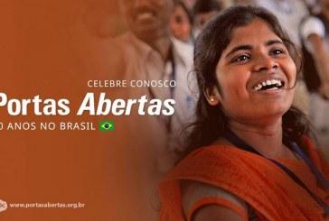 Portas Abertas promove culto para celebrar 40 anos no Brasil