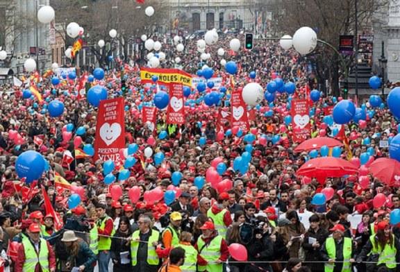 Mais de 30 mil pessoas vão às ruas para protestar contra o aborto, na Espanha
